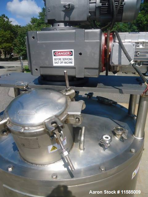 """Used-Lee 300 Gallon Stainless Steel Double Motion Kettle.  44"""" Diameter x 51"""" straight side and 90"""" overall height including..."""