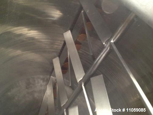 Used- Lee Double Motion Kettle, Model 600U9MS. 316 stainless steel jacketed kettle. 7.5 HP scraper blade agitation. Jacket 1...