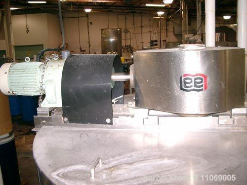 "Used-Lee Model 750D9MS 750 Gallon Stainless Steel Jacketed (40 psi) Double Action Kettle with scrapers and 3"" sanitary botto..."