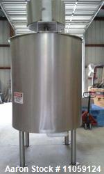 500 Gallon Lee Sanitary Jacketed 316 Stainless Steel Double Motion Mix Tank/Kettle. Has Double moti...