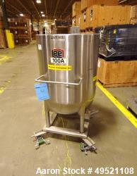 Used- Lee Industries Kettle, 100 Gallon, Model 100D, Stainless Steel, Vertical. Jacket rated 125 psi at 353 degrees F. Open ...