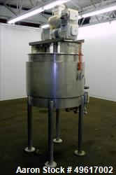 Used- Mix Kettle, Approximate 100 Gallon, 316 Stainless Steel, Vertical.