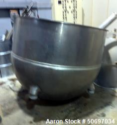 Used- Kettle, Approximately 250 Gallon, Stainless Steel.
