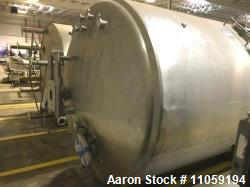Used- 2,000 Gallon Cherry Burrell Jacketed Mixing Tank. Jacket Rated 100 PSI at 350 Deg.F. NB # 4283. Dish Top and Bottom. 7...