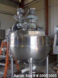 Used- Groen Twin Agitated Kettle, Model 250 SA, 250 Gallon