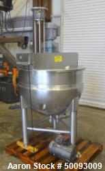 Used- Hamilton Twin Agitated Kettle, Model SA 100, 100 Gallon, Stainless Steel