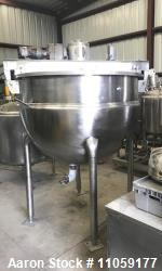 400 Gallon Hamilton Double Motion Jacketed Steam Mix Kettle/Tank. Has double motion agitator with s...