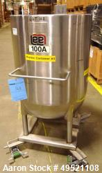 Used- Lee Industries 100 Gallon, Stainless Steel, Vertical Kettle, Model 100D.