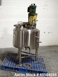 "Used- Lee Industries 30 Gallon Style ""U"" Kettle, Model 30 UBPT, Stainless Steel."