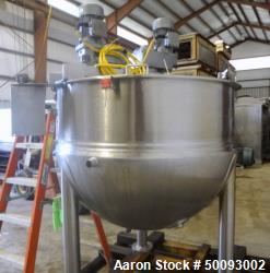 Used- LEE Industries Twin Agitated Kettle, 300 ETA, 300 Gallon