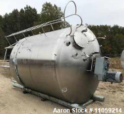 Used- Walker 3000 Gallon Sanitary Jacketed Mix Tank/Kettle/Processor