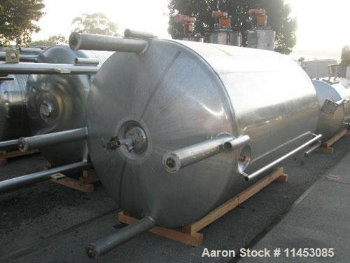 Used-4000 Liter (1056 gallon) Mueller Kettle. 316 stainless steel construction, 5' diameter x 8' straight side, dish top and...