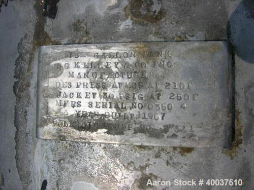 Used- O.G. Kelley Kettle, 75 Gallon