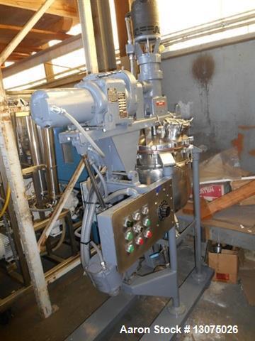 "Used- 10 Gallon Pardo Triple Motion Vacuum Kettle. Stainless steel construction, 12.6"" diameter x 6"" straight side, hemisphe..."