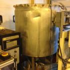 Used- 100 gallon Lee Industries Tri-Mix Turbo-Shear Vacuum Jacketed Processor. Model 100D-12T. Stainless steel construction....