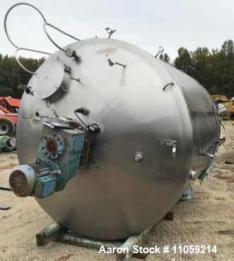 Used- Walker Sanitary Jacketed Mix Tank/Kettle/Processor, 3000 Gallon