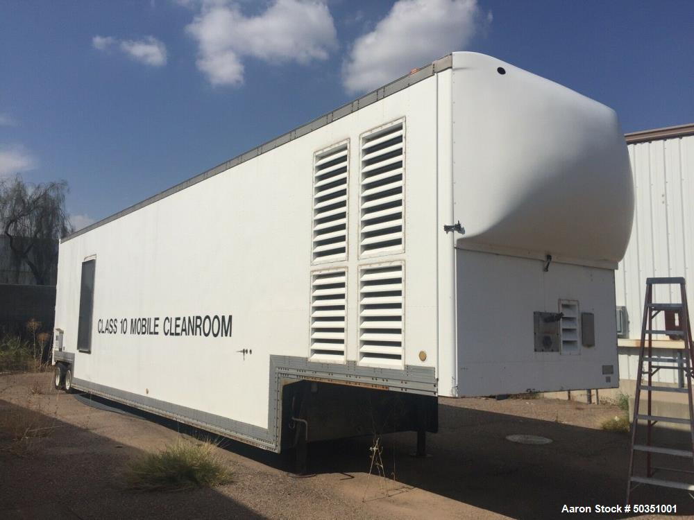 Used- Cleanroom Class 10 200+ SF Portable Cleanroom Mobile Trailer.