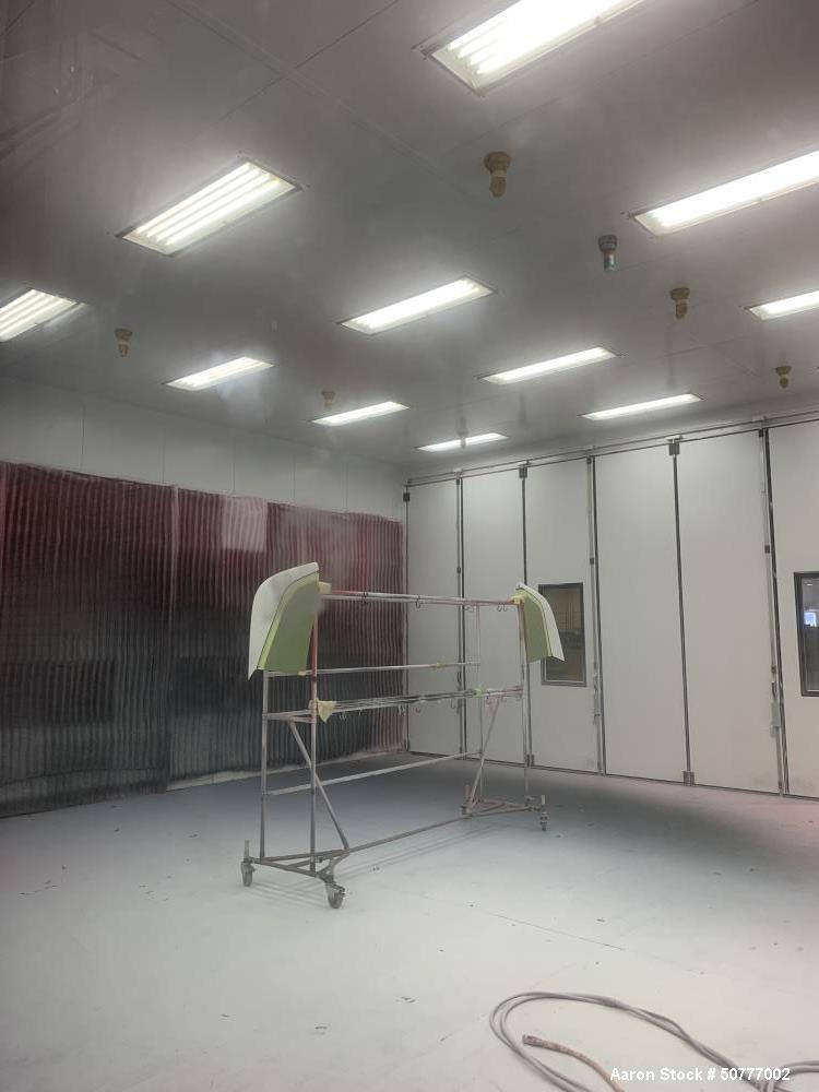 Used- Morehead Industrial Services Recirculating Cross Draft Paint Booth