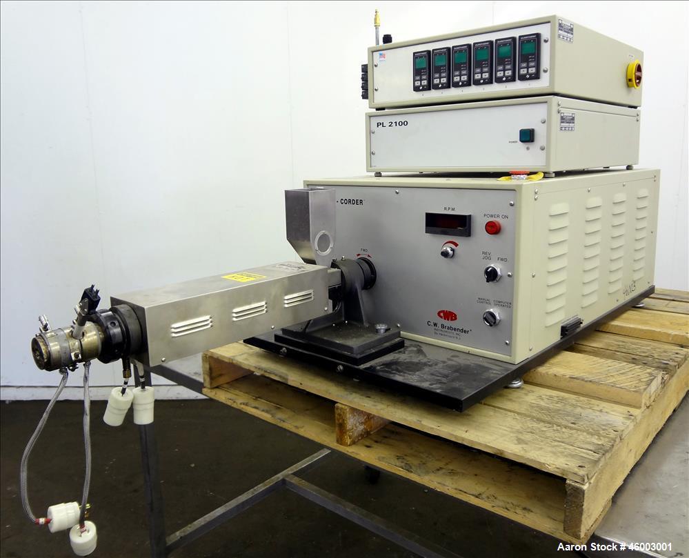 used c w brabender plasti corder torque rheomet rh aaronequipment com