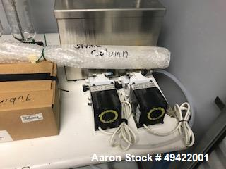 """Used- KARR Column Bench Top Unit, Model BTU-24. Consists of a 5/8"""" diameter glass column with the top and bottom chamber exp..."""