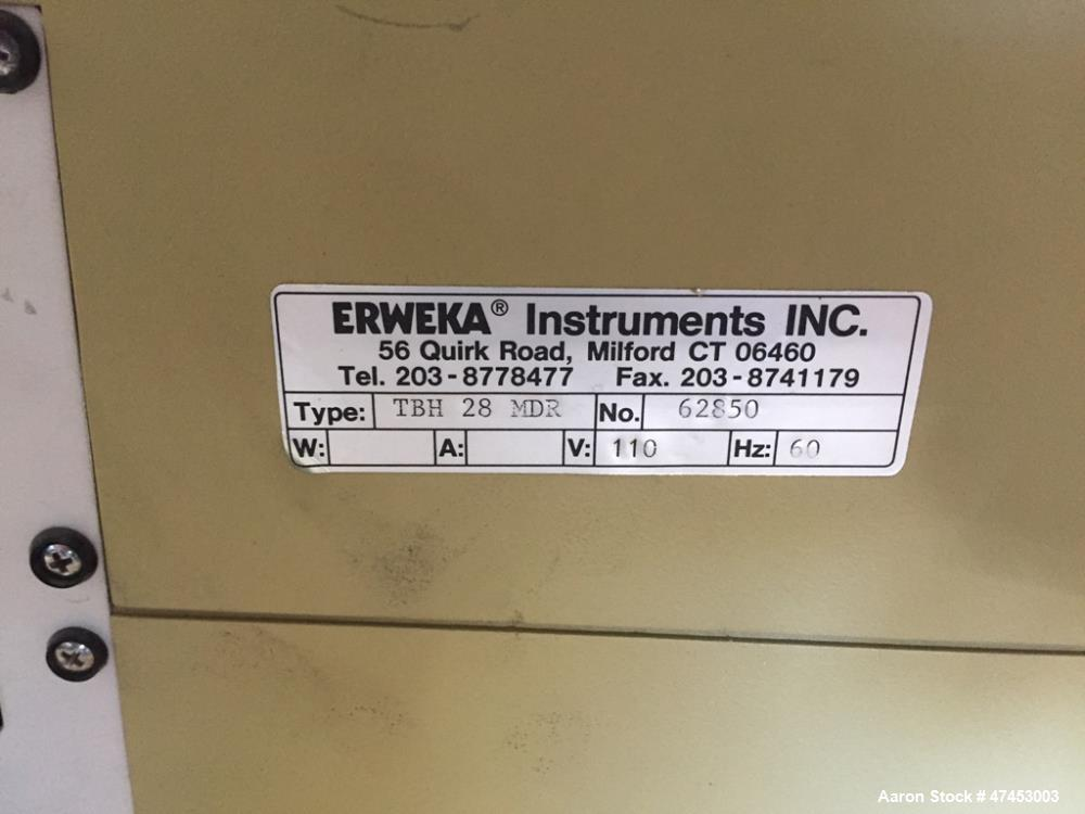 Used- Erweka Hardness Tester, Model TBH28MDR