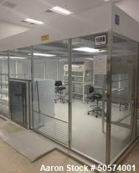 Used- ISO 5 Clean Room with Ante Room and Pass Through.