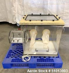 Used- Plas Labs Analytical Balance Glove Box, Model 830-ABC