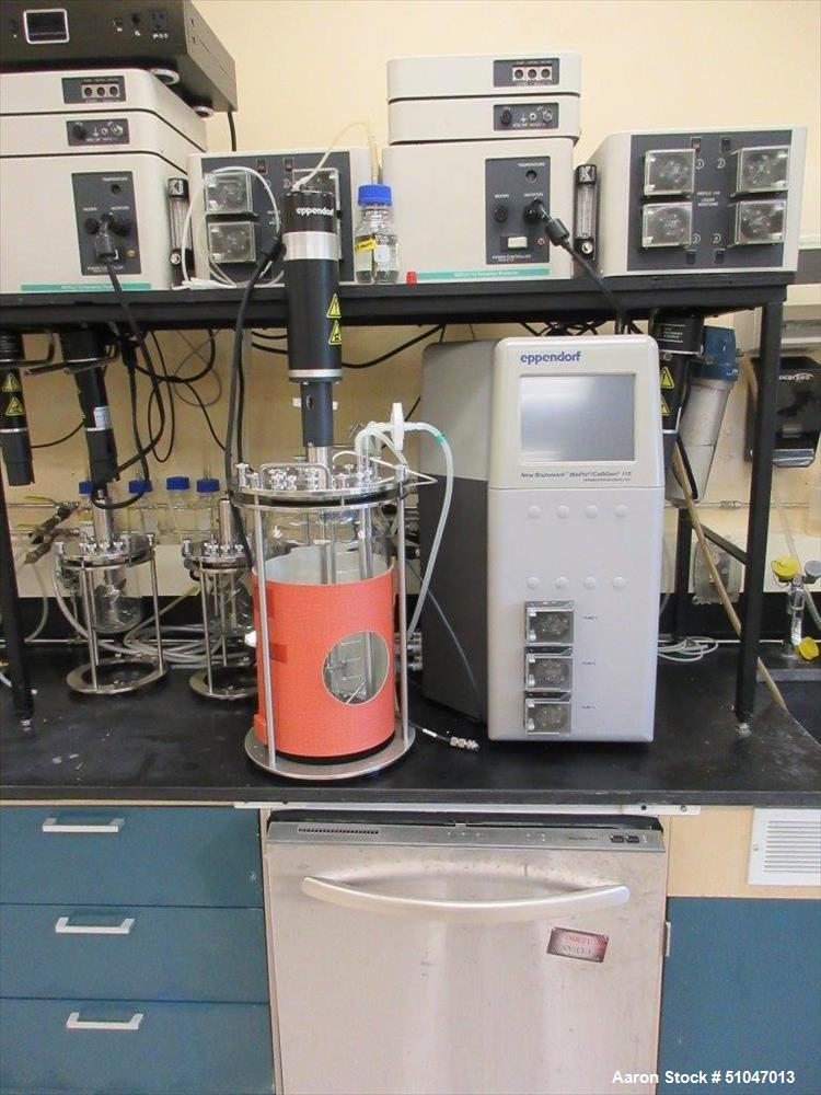 Used- New Brunswick Bioflo Modular Reactors. Model 110. 1 Liter Capacity. modular fermentation system for microbial and cell...