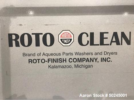 Used- Roto-Finish Rotary Drum Washer