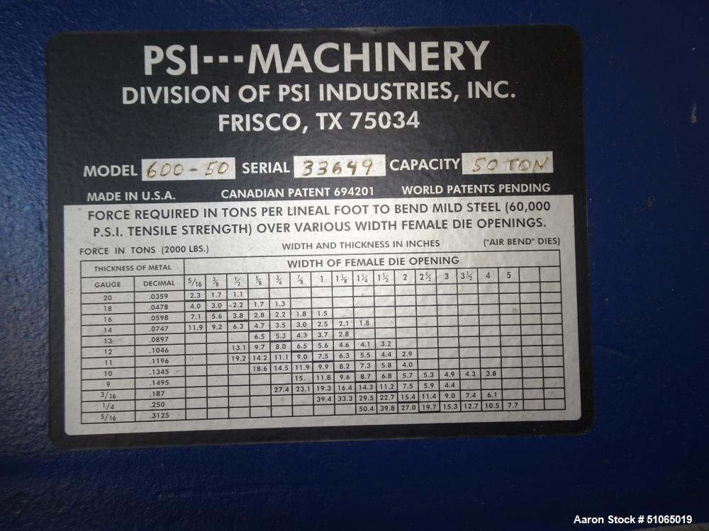 Used- 50 Ton Press Brake