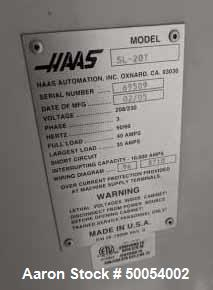Used- HAAS SL-20T CNC Lathe.