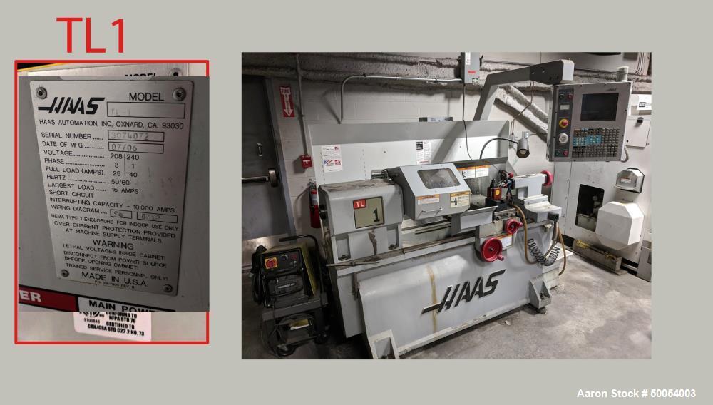 Used- HAAS CNC Lathe Model TL-1