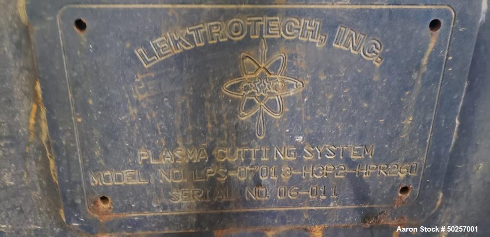 Used- Lektrotech Plasmas Cutting System
