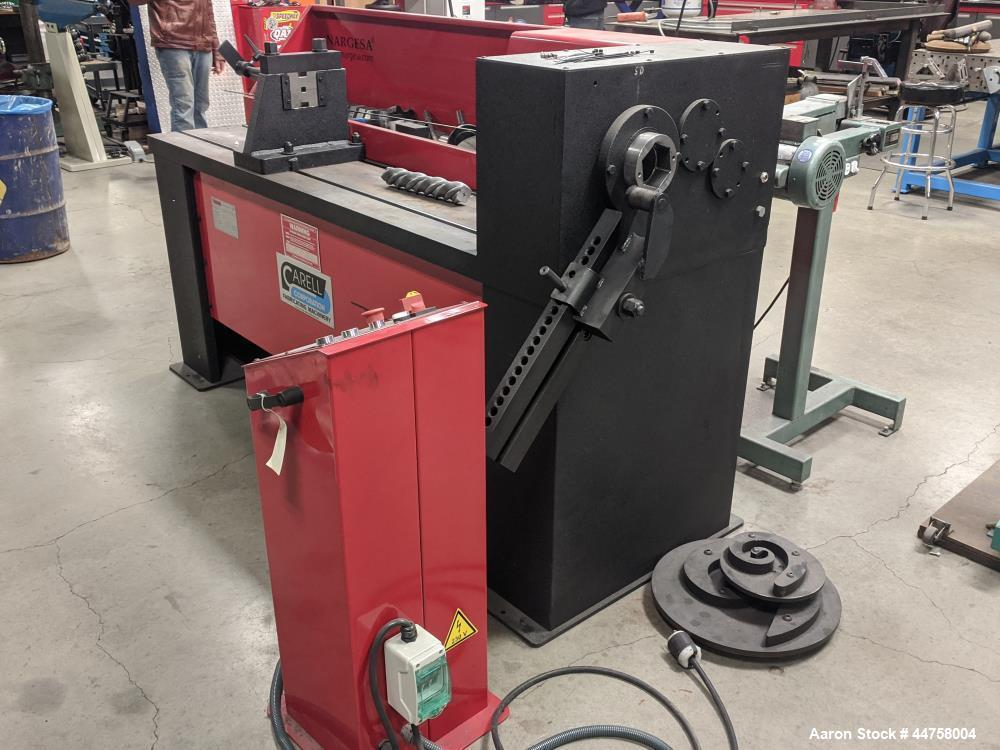 Used- Nargesa Industrial Automatic Wrought Iron Bar Twisting and Scrolling Machi