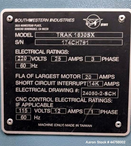 Used- Southwestern Industries Lathe