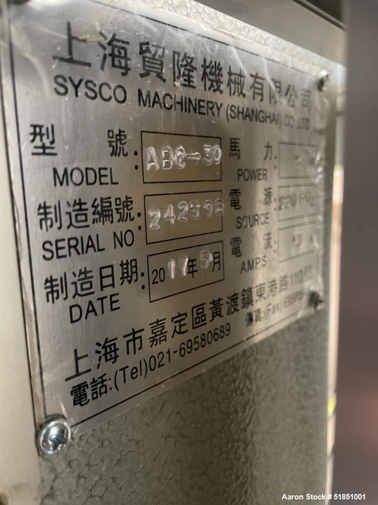 Used-Sysco Machinery Shear