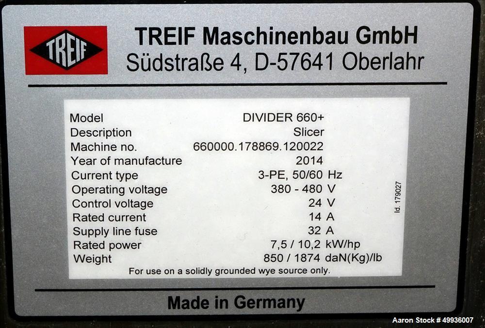 Used- Treif Slicer, Model Divider 660+.