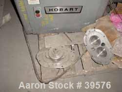 "Used- Hobart Stuffer, Model 4146. Galvanized Construction. Stainless steel sanitary product screw, 3"" diameter screw x 18-1/..."