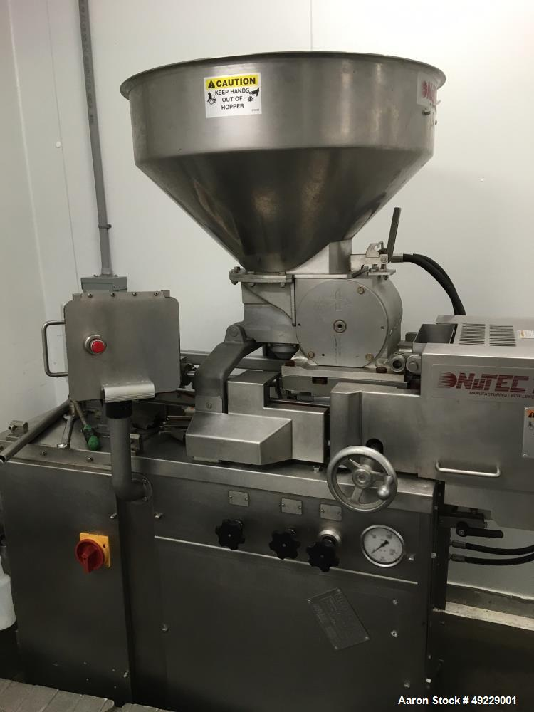 used  nutec 720 food former patty machine stai