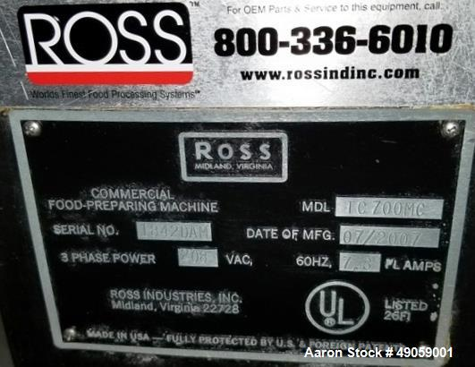 Used- Ross Meat Tenderizer, Model TC700MC