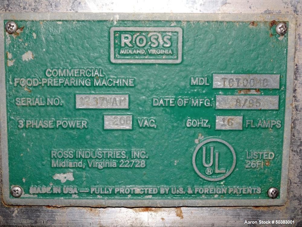 Used- Ross Industries Meat Tenderizer, Model TC700MC