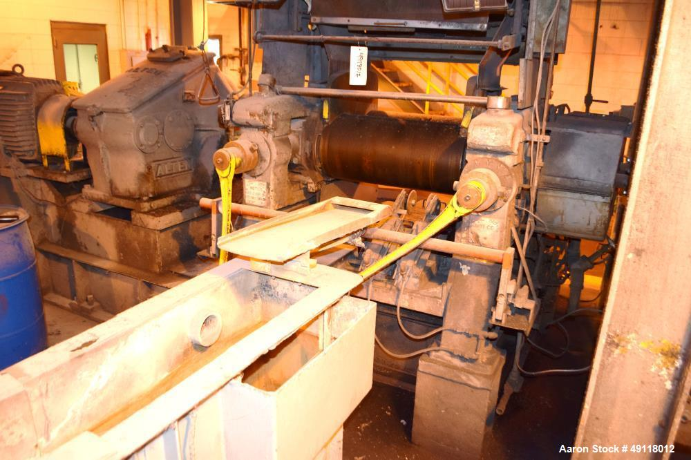 Used- EEMCO Erie Machine & Manufacturing Horizontal Two Roll Mill