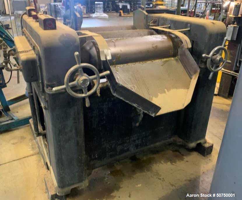 Used- J.H. Day Horizontal Three Roll Mill, Model 1