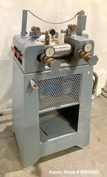 "Used- Anthony 4"" x 8"" Laboratory Three Roll Mill"
