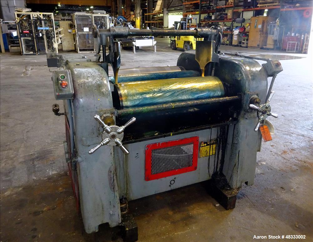 Used- Lehmann Machinery Horizontal Three Roll Dispersion Mill, Model 2A.