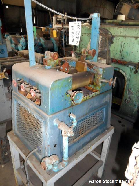 Used- Keith Machinery Horizontal Three Roll Mill, Model 4X8
