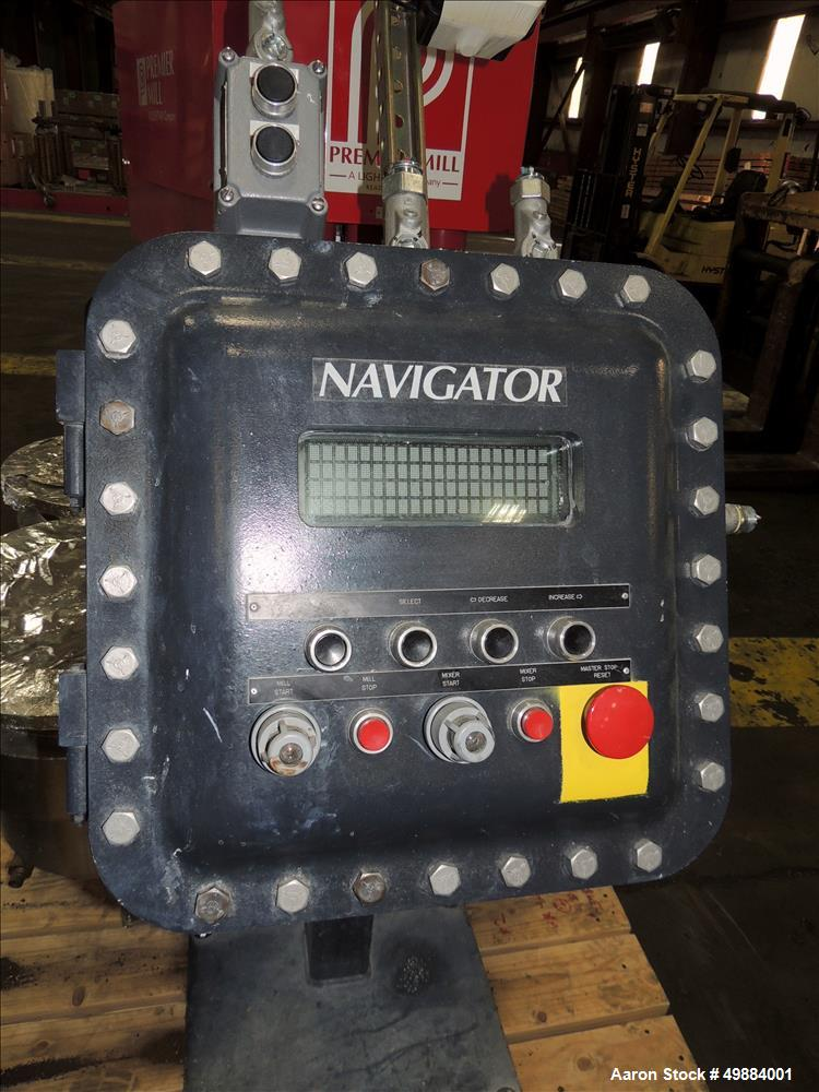 Used- Premier Model PSM-25, 10 HP Mill Motor, 2 HP Mixer Motor