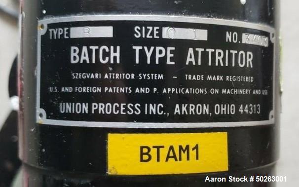 Used- Union Process Batch Type Attritor, Type B, Size 01.