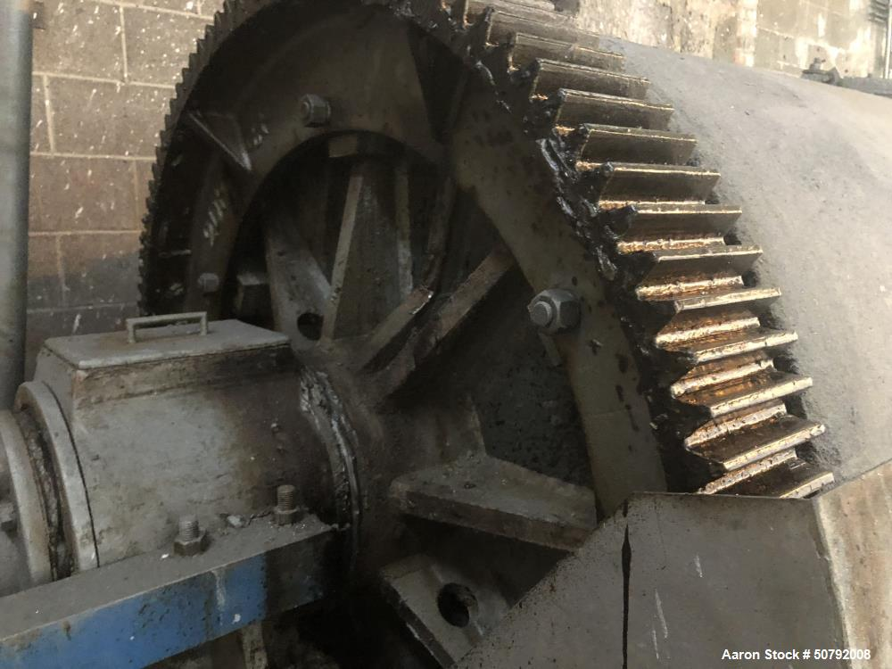 """Used- Paul O. Abbe 50"""" x 135"""" Jacketed Rotary Ball Mill"""