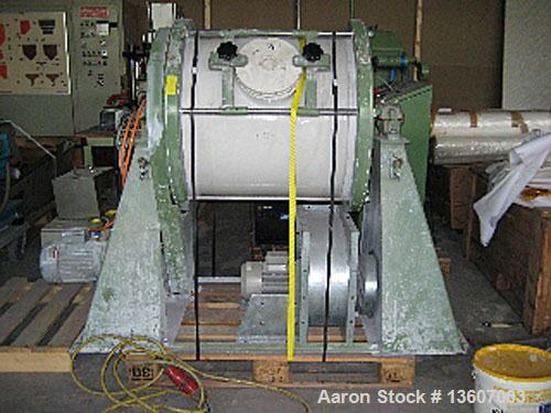 Used-Welte Mahltechnik ball mill, type WPM 200-S-2. Material of construction is ceramic on product contact parts including b...